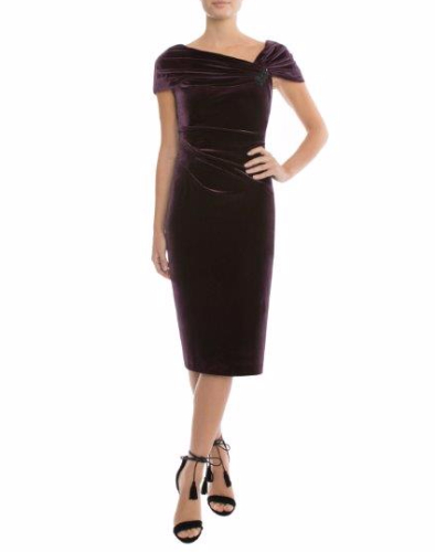 Anthea Crawford Aubergine dress