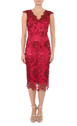 Anthea Crawford Cherry Lace Mother of the bride or groom
