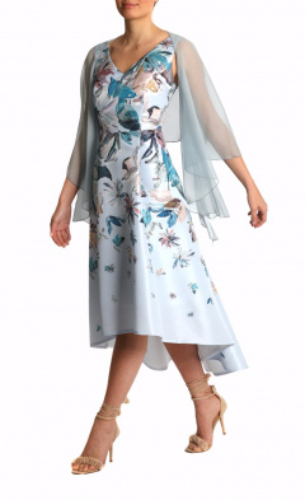 Anthea Crawford Silk Shrug Ice Blue mother of the bride and groom elegant day wear evening wear-367