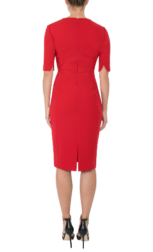 Anthea Crawford cherry shift dress back view
