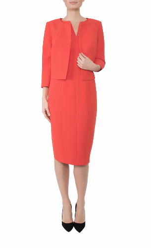 Anthea Crawford Melon Crepe Jacket mother of the bride, groom elegant day wear evening wear