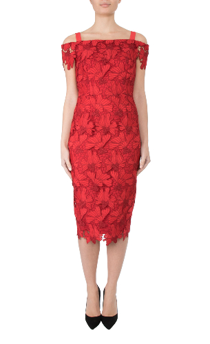 Anthea Crawford Cherry lace mother of the bride, groom elegant day wear evening wear