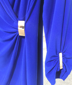 JOSEPH RIBKOFF SIMONE DRESS SIDE DETAIL