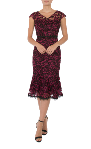 Anthea Crawford Ruby lace  mother of the bride or groom