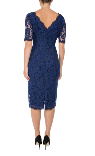 Anthea Crawford navy cobalt back view
